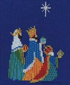 Three Kings Christmas Greetings Card Cross Stitch Kit from Derwentwater Designs