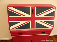 Meg and Mum's: Roadside Rubbish to Royalty Old Furniture, Colorful Furniture, Home Decor Furniture, Painted Furniture, Furniture Ideas, Desk Makeover, Furniture Makeover, Fold Down Desk, Old Desks