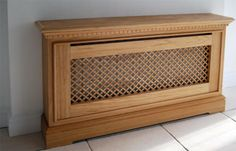 Made to measure radiator covers - high quality bespoke radiator covers made to measure in UK - oak radiator covers ny SPK cabinetmaking Radiator Heater Covers, Radiator Shelf, Radiator Cover, Cabinet Making, Pillow Fabric, Bay Window, Radiators, Home Projects, Cover Design