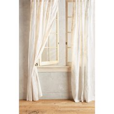 Anthropologie Tessara Curtain ($108) ❤ liked on Polyvore featuring home, home decor, window treatments, curtains, white, anthropologie curtains, anthropologie, embroidered curtains, white curtains and embroidery curtains