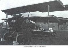 Fokker Dr.I 190/17 with Leutenant Otto Loeffler of Jasta Boelcke
