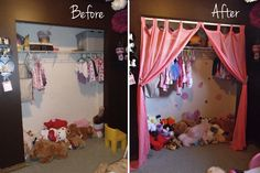 Holly Muffin: Toddler Girl's Room Improvements: Princess Closet Treatment