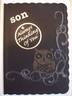 Handmade one of a kind Birthday card Son by FibreArtPlus on Etsy, $2.75