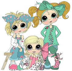 Clip Art Pictures, Cute Pictures, Besties, Coloring Books, Adult Coloring, Cute Cartoon Wallpapers, Copics, Whimsical Art, Anime