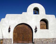 Church door in Tubac, Arizona