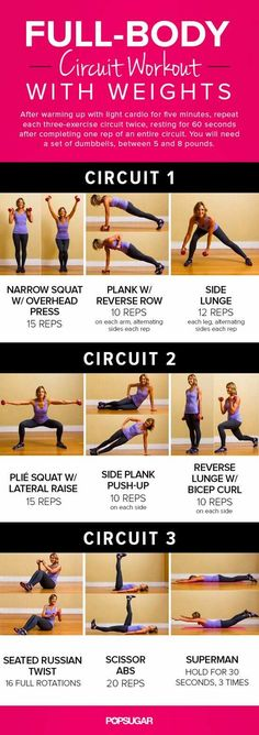 Fitness workout exercise full body circuit workout plan