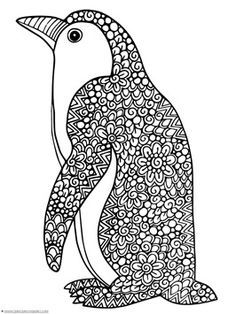 Printable Winter Coloring Pages | Penguins, Parents and Winter
