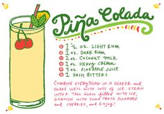 Oh So Beautiful Paper: Friday Happy Hour: Coconut Milk Piña Colada