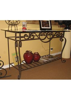 Wrought iron console table by Steven Handelman Studios #ironfurniture