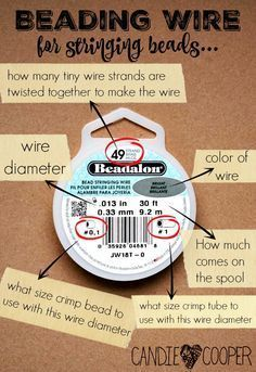 What in the Wire? Beading wire explained What wire to use for jewelry making using Beadalon wire The post What in the Wire? Beading wire explained appeared first on Jewelry Diy. Jewelry Tools, Wire Jewelry, Jewelry Crafts, Beaded Jewelry, Handmade Jewelry, Jewelry Ideas, Jewellery Box, Silver Jewelry, Jewelery