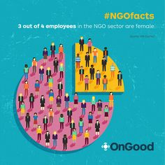 Three out of four employees in the NGO sector are female, but the majority of leadership positions at NGOs are still predominately held by men. #NGOfacts