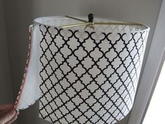 How To Turn a Tapered Lamp Shade into a Drum Shade | Apartment Therapy