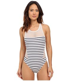 Vince Camuto Shore Side High Neck Maillot