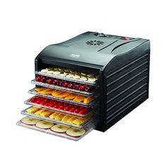 Aroma Housewares Professional 6 Tray Food Dehydrator, Black *** You can find more details by visiting the image link. (This is an affiliate link) Food Dehydrator Reviews, Best Food Dehydrator, Dehydrator Recipes, Instant Pot, Electric Foods, Black Food, Dehydrated Food, Drip Tray, Beef Jerky
