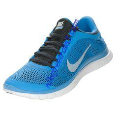 Womens Nike Free 3.0 V5 Running Shoes Distance Blue Black White 580392 404