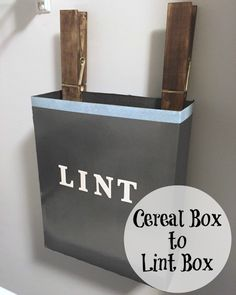 DIY Lint Box - this would be great to have hanging over my dryer so that I could use it for fire starters!