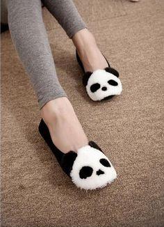 SouthBay Shoes - Panda Accent Flats #pandaaccentflats #flats #pandaflats