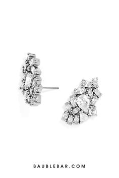 Looking for something new for your special day? These delicate crystal earrings will complete your bridal look!