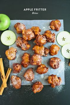Apple Fritter Bites from Say Yes | These speak my love language!