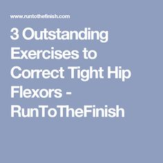 Hip Flexor Pain: 3 Outstanding Exercises to Correct Tight Hip Flexo... Hip Flexor Pain, Hip Flexor Exercises, Tight Hip Flexors, Hip Stretches, Stretching, Cycling Stretches, Hip Pain, Flexibility Workout, Strength Workout