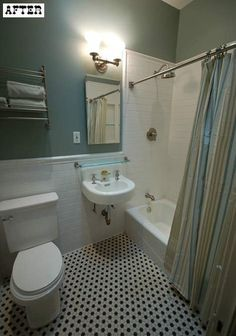 traditional bathroom, subway tile