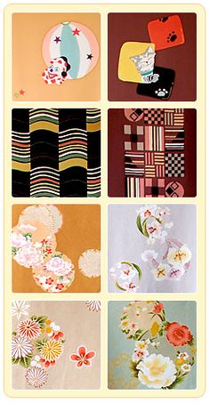 Japanese kimono patterns