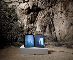 Core Series: Glasses by Gary Hill, 1991. Two-channel video. #videoArt