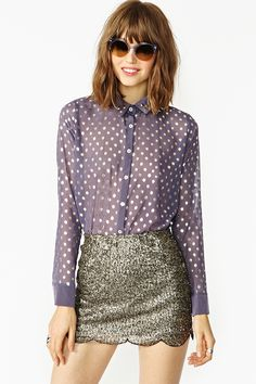 Dotted Stud Blouse