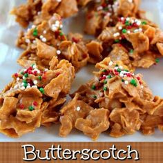 Butterscotch Crunchies ~ If you love butterscotch, and you love peanut butter, than you are going to LOVE these! These butterscotch crunchies are delicious! Holiday Desserts, Holiday Baking, Christmas Baking, Holiday Treats, Holiday Recipes, Christmas Recipes, Yummy Treats, Delicious Desserts, Sweet Treats