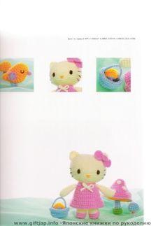 Free Hello Kitty and Bird Amigurumi Crochet Pattern