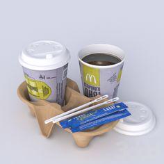 3d модели: Ресторан - Кофе из Мак Доналдс