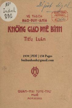 Khổng Giáo Phê Bình Tiểu Luận (NXB Quan Hải Tùng Thư 1939) - Đào Duy Anh, 158 Trang | Sách Việt Nam Hue
