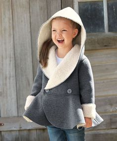 girls sherpa reversible jacket
