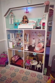 Doll House from an American Girl Doll Themed Birthday Party via Kara's Party Ideas! KarasPartyIdeas.com (40)