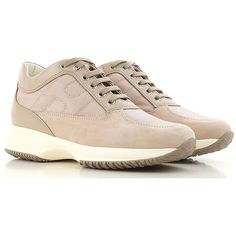 Hogan Shoes and Sneakers from the Latest Collection. Hogan Women's Shoes are available online in a wide selection at the Raffaello Network Store. Fashion Details, Tennis, Beige, Lace Up, Sneakers, Suede Fabric, Outlet, Women's Shoes, Fall Winter