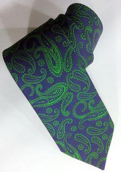 Men's Tie Dark Blue and Green Necktie Dark Blue and by PeraTime #handmadeatamazon #nazodesign