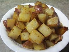 Indoor Or Outdoor BBQ Potatoes. Either way they come out yummy. For better clean-up in oven you can also do the foil!
