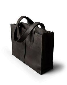 My Paper Bag 'Handbag' Off Black - MyoMy