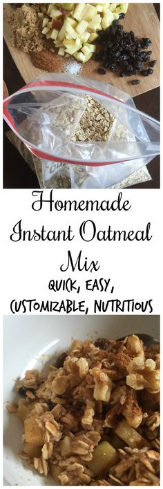 A quick and easy customizable oatmeal mix to make at home on Sunday evenings for easy mornings all week. Make this for breakfast meal-prep! by Dash of Jazz