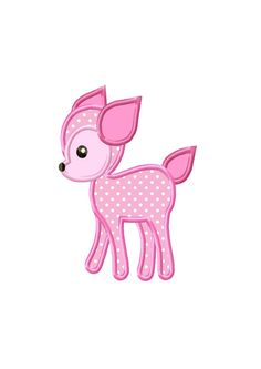 Little Deer Applique Machine Embroidery DESIGN NO. 39