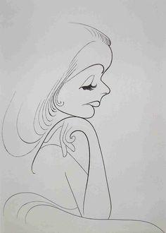 Al Hirschfeld ~ Greta Garbo