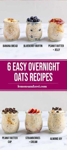 Overnight Oats Chocolate, Easy Overnight Oats, Best Overnight Oats Recipe, Low Calorie Overnight Oats, Oats Recipes, Cooking Recipes, Cooking Tips, Freezer Recipes, Freezer Cooking