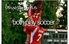 SHES THE MAN! I love that movie! Its about a girl who wants to tell all male soccer player that girls can play soccer like men! (the picture) And YES! Wow. I want to have a boyfriend who is playing soccer someday! ^____________^
