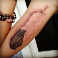 Realistic feather   http://tattoo-ideas.us/realistic-feather/  http://tattoo-ideas.us/wp-content/uploads/2013/06/Realistic-feather.jpg
