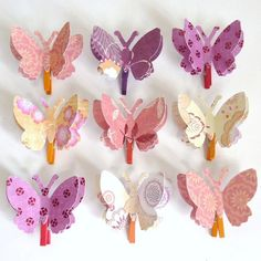 clothes pin butterflies.