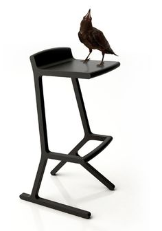 Hybrid chair | boris klimek | #black #chair #highchair