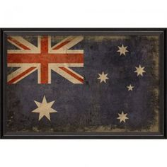 The Australian flag framed art offers a personalized touch to living rooms and bedrooms, manifesting where a heart calls home or identifies with. With a unique vintage look, this decor collection delivers on-trend yet timeless appeal. Vintage Flag, Vintage Signs, Australia Tattoo, Framed Artwork, Framed Prints, Australian Flags, World Thinking Day, Flag Art, Flags Of The World