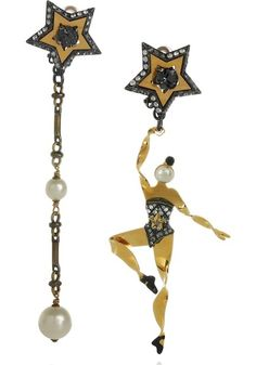 Lanvin - Danseuses Swarovski Crystal Clip Earrings