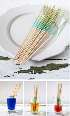 Ombre Skewers | 33 Beautiful Things You Can Make With Food Coloring
