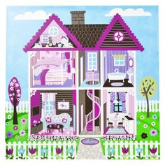 "Oopsy Daisy too Play House Wall Art - 21x21"""